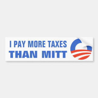 Pago a más impuestos que el mitón Obama el 2012 47 Pegatina De Parachoque