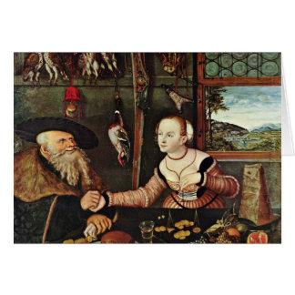 Pago (los suegros) por Cranach D. Ä. Lucas (mejor Tarjeton