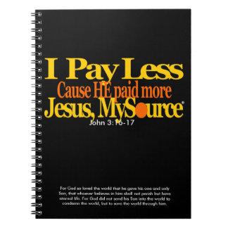 Pago menos cuaderno cristiano (80 páginas B&W)