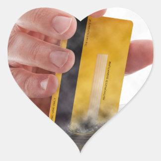 Pago móvil pegatina en forma de corazón