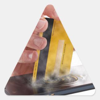 Pago móvil pegatina triangular