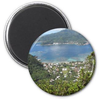 Pago Pago Harbor 2 Inch Round Magnet