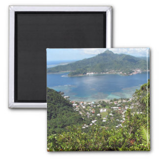 Pago Pago Harbor 2 Inch Square Magnet
