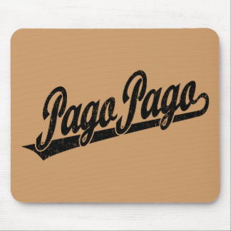 Pago Pago script logo in black distressed Mouse Pad