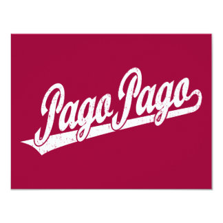 Pago Pago script logo in white distressed Custom Announcement