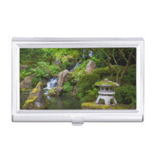 Feng shui business card holders cases zazzle pagoda and pond in the japanese garden case for business cards colourmoves