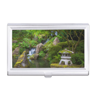 Pagoda and Pond in the Japanese Garden Case For Business Cards