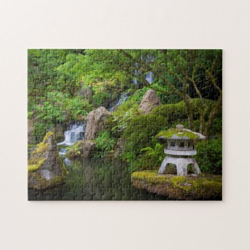 Pagoda and Pond in the Japanese Garden Jigsaw Puzzles