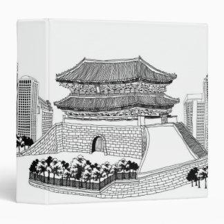 Pagoda and Trees Binder