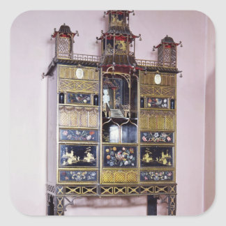 Pagoda cabinet in style of Thomas Chippendale Square Sticker