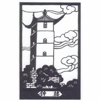Pagoda china esculturas fotograficas
