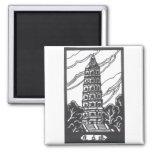 Pagoda china iman de nevera