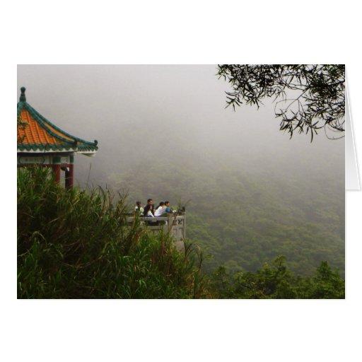 Pagoda china tarjeta de felicitación