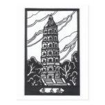 Pagoda china tarjeta postal