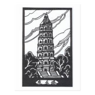 Pagoda china tarjetas postales