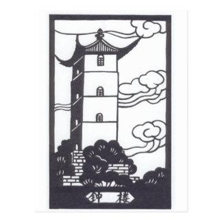 Pagoda china postales