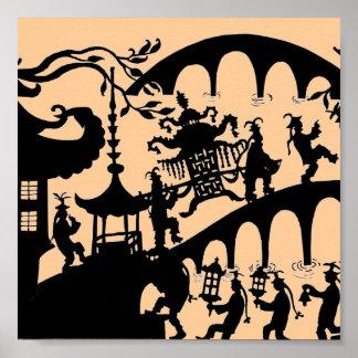 Pagoda Dance Print