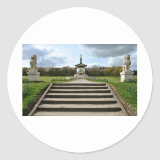 Pagoda de la paz, Milton Keynes Pegatina Redonda