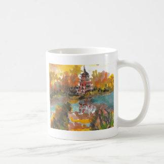 Pagoda del otoño taza de café