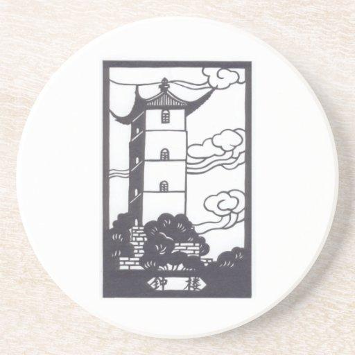 Pagoda Drink Coaster