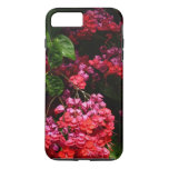 Pagoda Flowers Colorful Red and Pink Floral iPhone 7 Plus Case