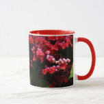 Pagoda Flowers Colorful Red and Pink Floral Mug