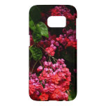 Pagoda Flowers Colorful Red and Pink Floral Samsung Galaxy S7 Case