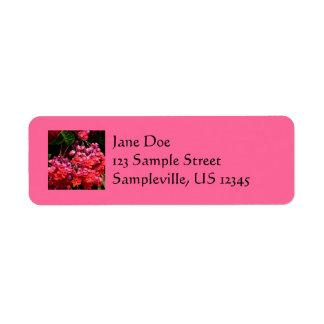 Pagoda Flowers Return Address Label