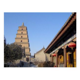Pagoda grande del ganso tarjeta postal