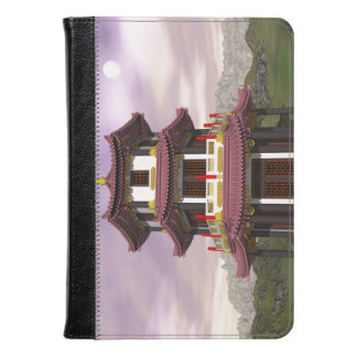 Pagoda in nature - 3D render Kindle Case