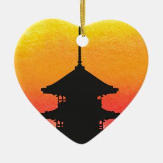 Pagoda Japan Kyoto Ceramic Ornament