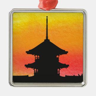Pagoda Japan Kyoto Metal Ornament