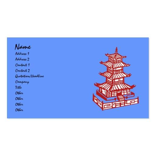 pagoda, nombre, dirección 1, dirección 2, contacto tarjetas de visita