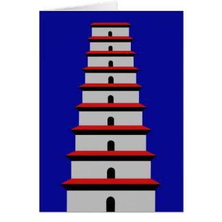 Pagoda salvaje del ganso tarjeta de felicitación