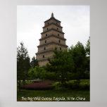 Pagoda salvaje grande del ganso de Xi'an Posters