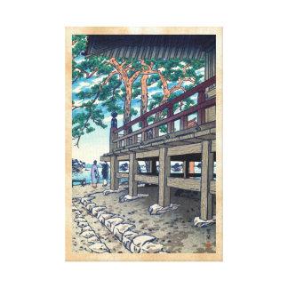 Pagoda Shiro Kasamatsu Japón de Matsushima Godaido Impresion De Lienzo