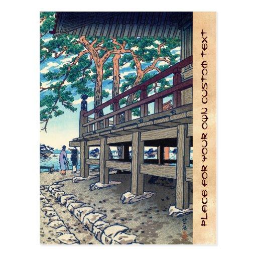 Pagoda Shiro Kasamatsu Japón de Matsushima Godaido Tarjetas Postales