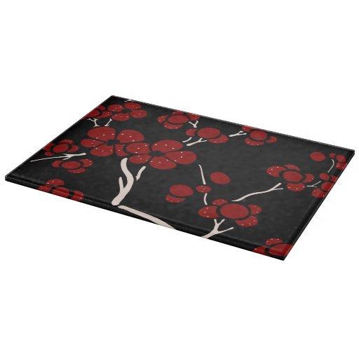 Pagoda style glass cutting board on black zazzle - Decorative tempered glass cutting boards ...