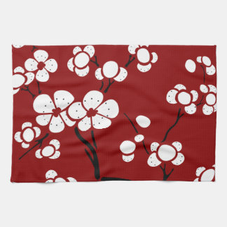 Pagoda Style Kitchen Towels in Red