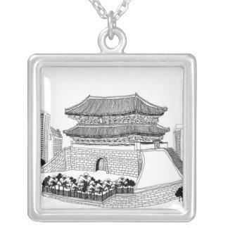 Pagoda y árboles joyerías