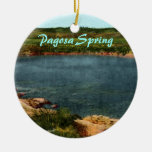 Pagosa Spring Double-Sided Ceramic Round Christmas Ornament