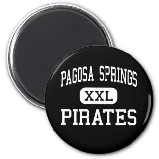 Pagosa Springs - Pirates - High - Pagosa Springs 2 Inch Round Magnet