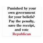 Pague la pena, republicano del voto postales