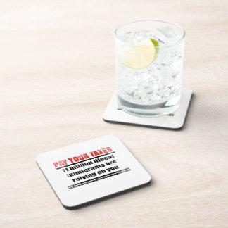 Pague sus impuestos Faded.png Posavasos De Bebidas
