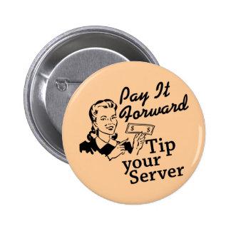 Pagúelo adelante, incline su servidor pin