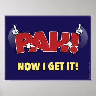 ¡PAH! un cartel de la sala de clase del ASL Póster