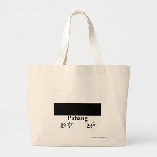 Pahang flag with name canvas bag