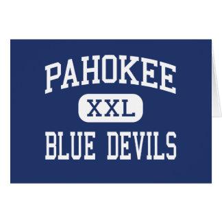 Pahokee - Blue Devils - Middle - Pahokee Florida Greeting Card