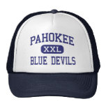 Pahokee - Blue Devils - Middle - Pahokee Florida Mesh Hat
