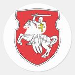 Pahonia, Belarus Round Stickers